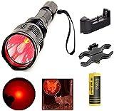 Ulako 250 Yards Range Red Light Flashlight with Scope...