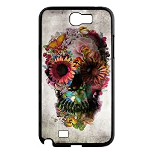 LZHCASE Diy Design Back Case Sugar Skull for Samsung Galaxy Note 2 N7100 [Pattern-1]