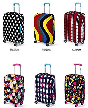 Amazon.com | Large Protective Spandex Elastic Suitcase Cover for 26-30 inch Travel Bags. (Large, Black and White Dots) | Luggage