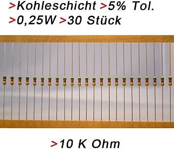 3017 Kohleschicht Widerstand Resistor 510 Ohm 0,25W 5/% 10 Stück