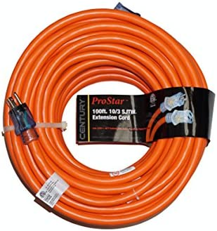 Prostar 10 Gauge Sjtw 3 Conductor 100 Foot Extension Cord With Lighted Ends Orange Amazon Com
