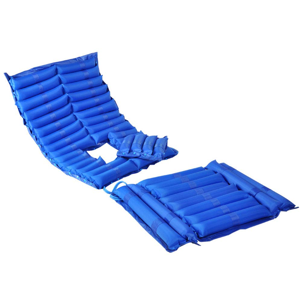 Colchón de presión alterna-Cojín inflable de la cama para la úlcera de la presión y el tratamiento del dolor de presión incluye la bomba de aire eléctrica y cojín del colchón,Blue,2000mm×900mm