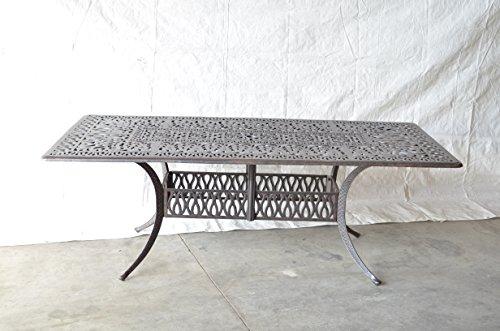 Elizabeth Outdoor Patio Rectangular Dining Table 44