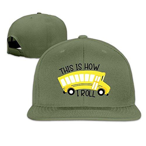 Unisex Baseball Caps Bus How I Roll Snapback Hats Adjustable Sport Cap