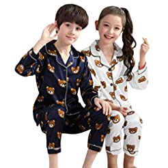 Beppter Kids Boys Girls Pajamas Set Top+...
