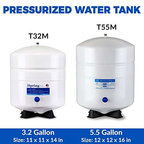 iSpring T32M 4 Gallon Residential Pre-Pressurized Water Storage Tank for Reverse Osmosis (RO) Systems by iSpring (Image #3)