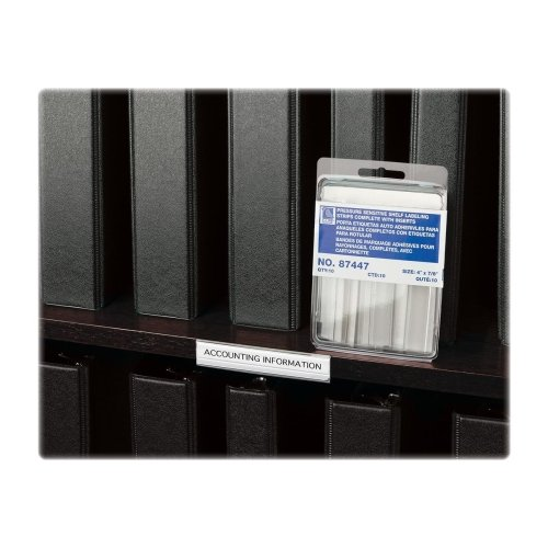 C-Line Self-Adhesive Shelf Label Strips w/ Inserts