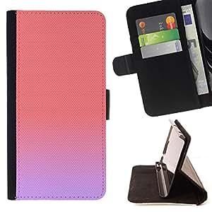 BullDog Case - FOR/Samsung Galaxy S6 EDGE / - / purple peach pink pastel colors cute /- Monedero de cuero de la PU Llevar cubierta de la caja con el ID Credit Card Slots Flip funda de cuer