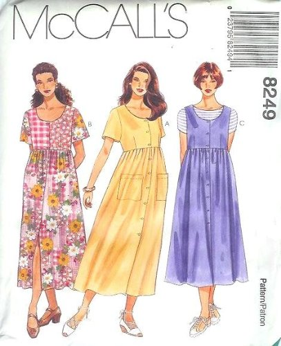 (McCall's Sewing Pattern 8249 Misses' Half Size Dress or Jumper, L (Size 10 1/2 - 12 1/2 - 14 1/2))