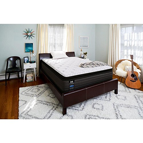Sealy Response Performance 13.5 in. California King Plush Euro Pillowtop Mattress Set with 5 in. Low Profile Foundation