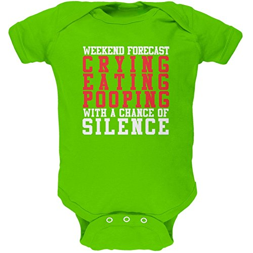 Price comparison product image Old Glory Weekend Forecast Crying Pooping Silence Apple Green Soft Baby One Piece - 3-6 Months