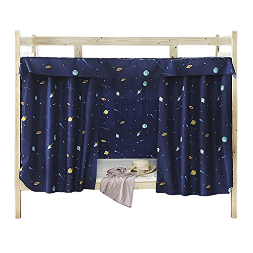 (JIAHG Students Dormitory Bunk Bed Curtains Single Bed Tent Curtain Shading Nets Dustproof Blackout Cloth Bed Canopy Mosquito Protection Net Bedroom Cabin Decor Mid-Sleeper Spread Blackout Curtains)
