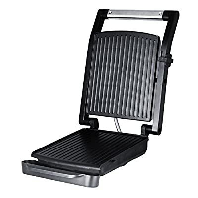 Burger Grill, Sandwich Maker, Panini Press, Steaks Griller or Grill, Silver