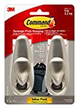 Command Large Forever Classic Metal Hook, Brushed