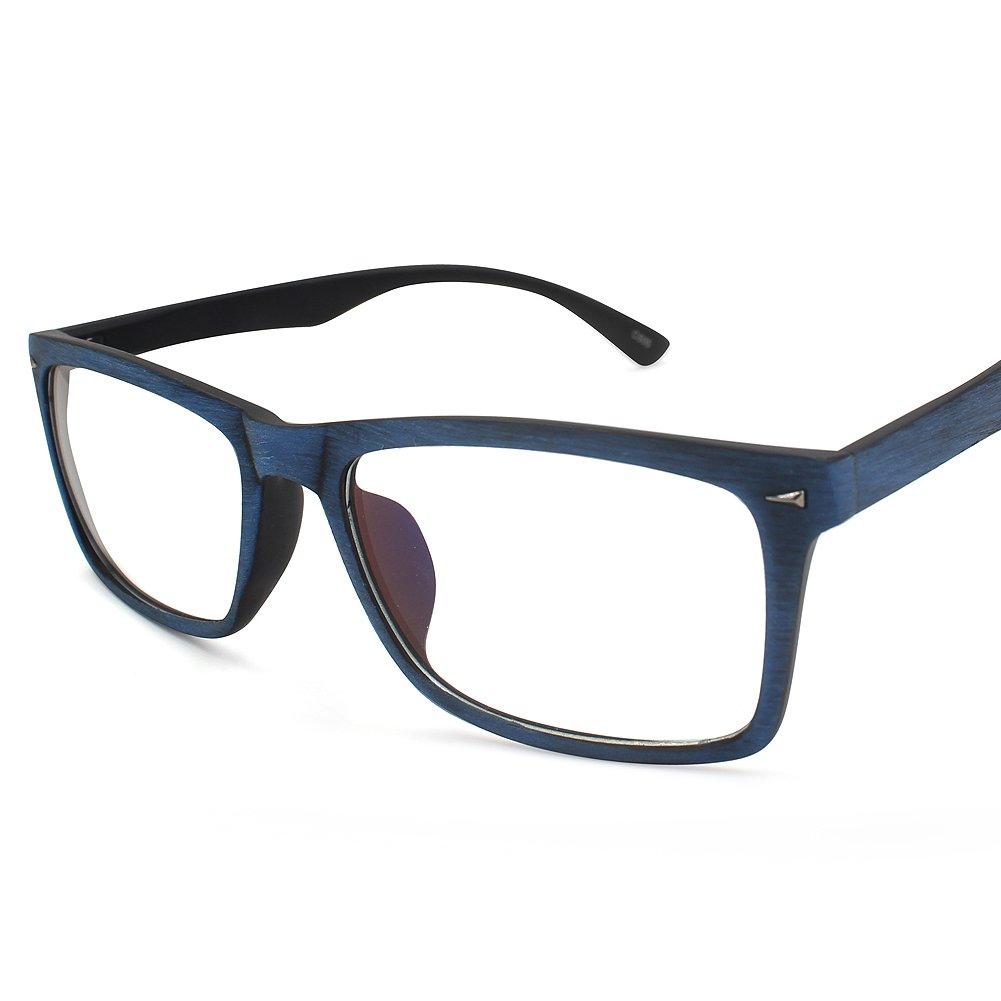 Rectangle Eyeglasses Optical Frame Wood-like Glasses Frames For Women Men