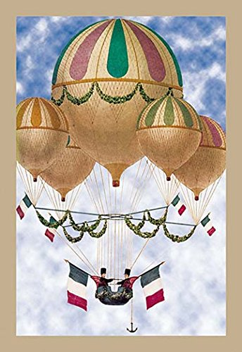 Balloon Flotill Highly Decorated Balloons sport the Italian Flag and its colors 28x42 Giclee on Canvas - Buyenlarge Flags