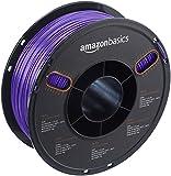 AmazonBasics PETG 3D Printer Filament, 1.75mm, Purple, 1 kg Spool