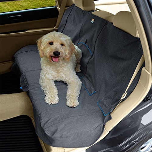 Kurgo Heather Dog Car Seat Cover and Car Bench Seat Cover, Heather Charcoal