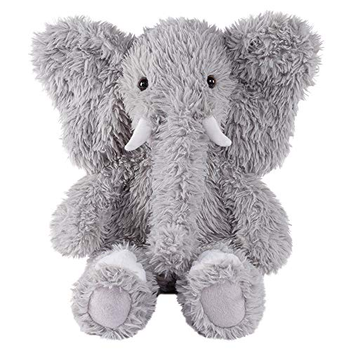 Vermont Teddy Bear Oh So Soft Elephant Stuffed Animals Plush Toy, Gray, 18