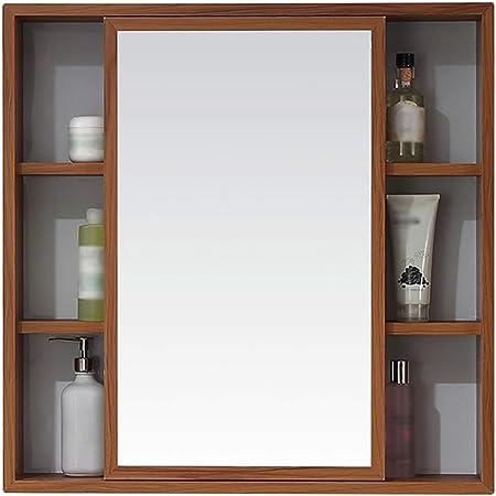 Muebles de baño Armarios de Pared Espejo Imitación Madera Veteada ...