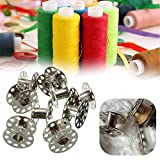 30pcs Universal Metal Sewing Silver Bobbins Household Sewing Machine Accessories