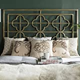 Safavieh Home Collection Lucina Antique Iron Headboard, Queen
