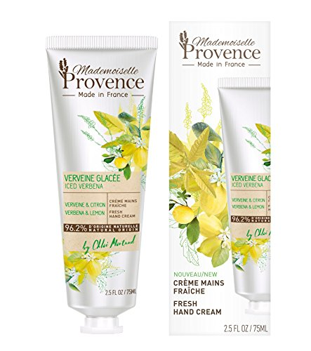 - Mademoiselle Provence Lemon Verbena Vegan Hand Cream enriched with Shea Butter, Rejuvenating, Nourishing and Moisturizing Natural Hand Lotion, Cruelty Free, Made in France, 2.5 fl oz