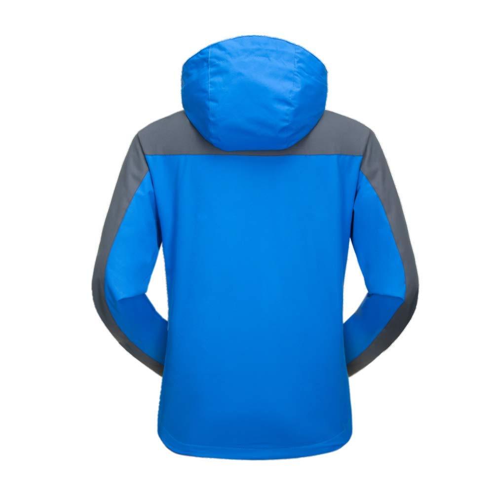 Blue yue Mujer Chaqueta Impermeable con Capucha,Prueba de Viento Chaquetas de Esqu/í,Invierno Termica T/áctica Chaqueta de Softshell para C/ámping Senderismo Viajes Trabajo