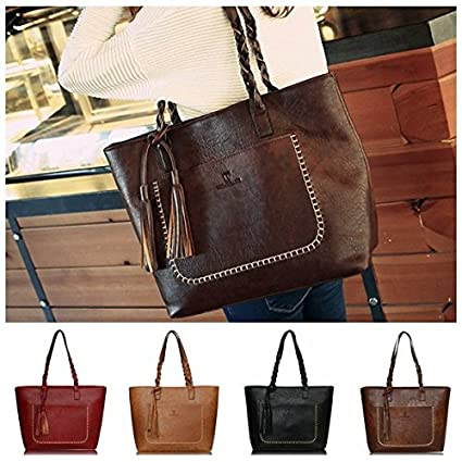 4ce30cc1770e Digital baby Vintage Messenger Bags Tassel PU Leather Handbags Large  Capacity Women Bags Shoulder Tote Bags Bolsos