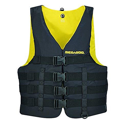 Sea-Doo New OEM Motion PFD, Black/Yellow, 2XL, 2858761490