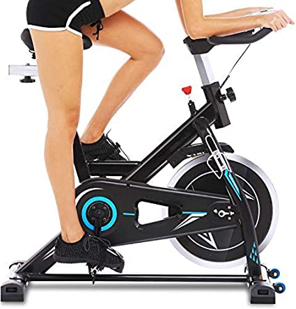 Profun Bicicleta Estática de Spinning Profesional, Ajustable Resistencia, Pantalla LCD, Bicicleta Fitness de Gimnasio Ejercicio con Volante de Inercia, Sillín Ajustable, Máx.130kg (Negro con App): Amazon.es: Deportes y aire libre