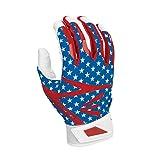 Easton Z7 Hyperskin Youth Batting Pair Gloves, Stars/Stripes, Medium