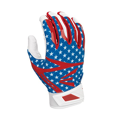 Easton Z7 Hyperskin Batting Pair Gloves, Stars/Stripes, Medium
