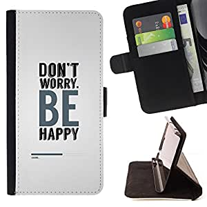 Jordan Colourful Shop - Don't Worry Be Happy For Samsung Galaxy S5 V SM-G900 - Leather Case Absorci???¡¯???€????€????????&