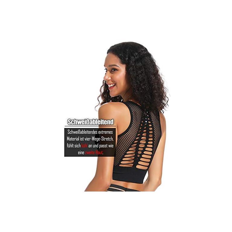 INSTINNCT Damen Nahtlos Yoga Sport-BH Ohne Bügel mit