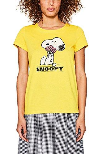 ESPRIT, Camiseta para Mujer Multicolor (Sunflower Yellow 730)