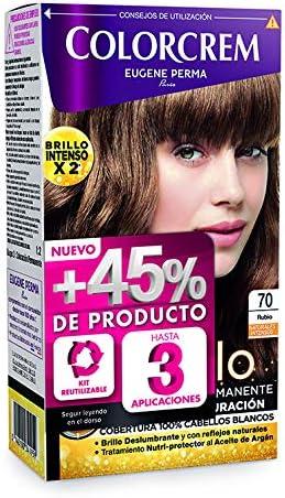 Colorcrem Color & Brillo - Tinte Permanente Mujer - Tono 70 Rubio, con Tratamiento Nutri-Protector al Aceite de Argán. + 45% de Producto   Disponible ...