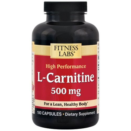 Fitness Labs L-Carnitine 500 Mg, 180 Capsules