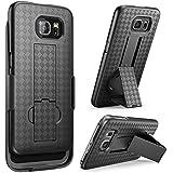 Galaxy S6 Case, i-Blason Transformer Slim Hard Shell Holster Case Combo with Kickstand and Locking Belt Swivel Clip for Samsung Galaxy S6 (Black)
