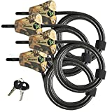 Master Lock Python Trail Camera Adjustable Camouflage Cable Locks 8418KA-4 CAMO 4-pack