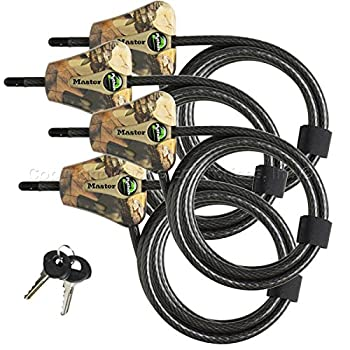 Master Lock Python Trail Camera Adjustable Camouflage Cable Locks 8418KA-4 CAMO 4-pack