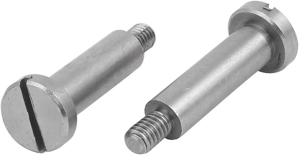 uxcell 5pcs 303 Stainless Steel Slotted Drive Shoulder Bolt 6mm Shoulder Dia 20mm Shoulder Length M4x6mm Thread