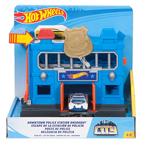 Hot Wheels Downtown Police Station Breakout Vehicle Playset