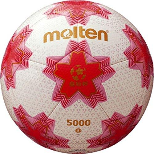 B07D1LWBQ3 モルテン(Molten) 皇后杯試合球 ホワイト×ピンク F5E5001 サッカーボール5号球