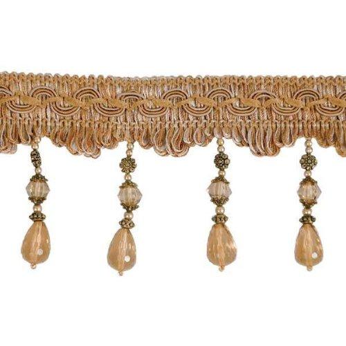 Expo International Gypsy Beaded Fringe Trim, 10-Yard, Gold Multi