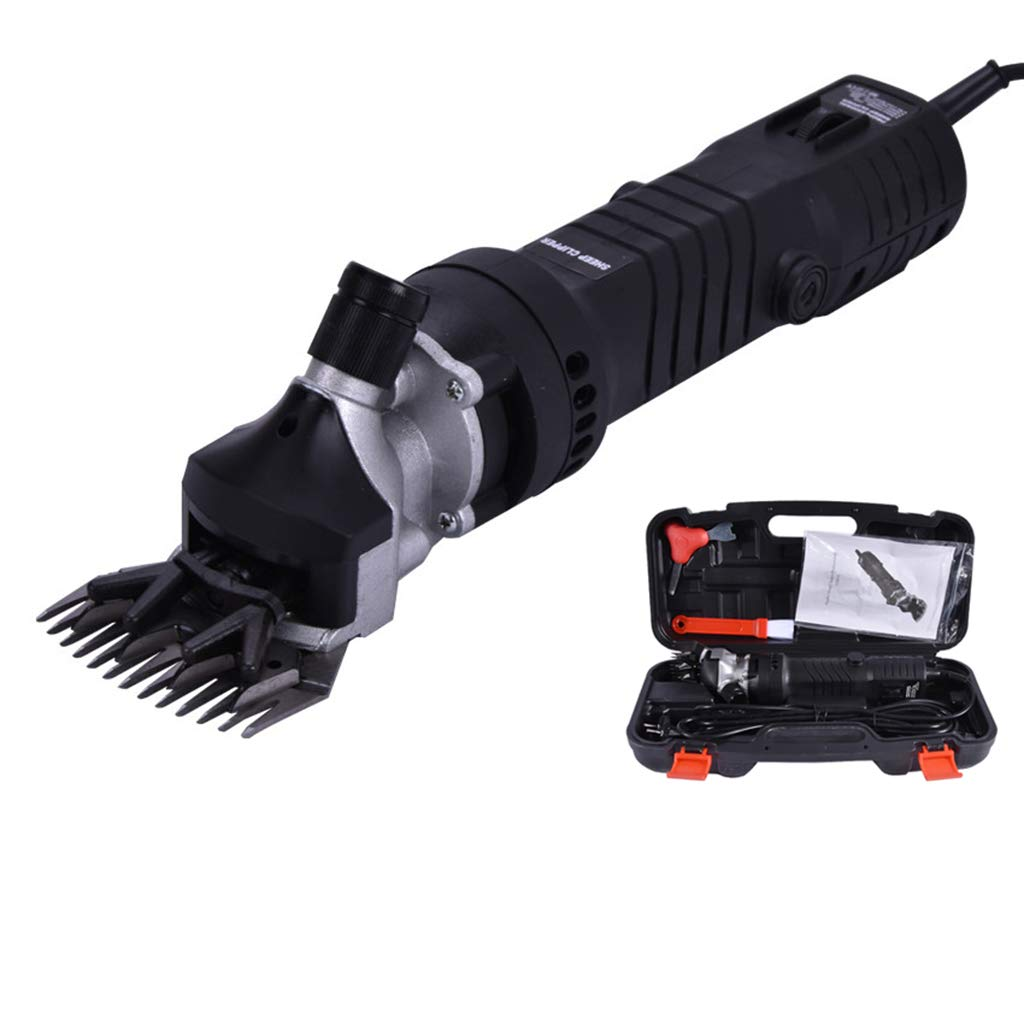 320W Electric Sheep Shearing Clipper with 13 Teeth Blade, 6 Speed Adjustment Speed Wool Electric Sheep Shearing for Farm Livestock