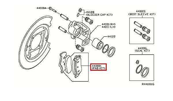 Genuine Infiniti Brake Pads D4060-1LB8E