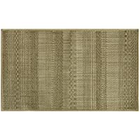 Bacova Guild Natural Woven Accent Rug, Skid Resistant, Textured Stripes Brown, 46 x 28