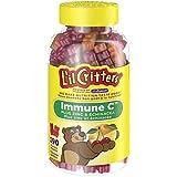 L'il Critters Immune C Plus Zinc & Echinacea Gummy Vitamins, Naturally Sourced Colours & Flavours, 190 Count