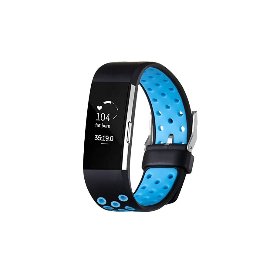 GEAK for Fitbit Charge 2 Bands, Sports Replacement Bands for Fitbit Charge 2, Large and Small